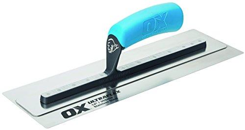 Ox Pro UltraFlex Stainless Steel Finishing Trowel 14 inch / 355 x 110mm | Plasterer | Drywall | OX-P530114