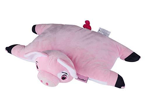 Travesseiro De Viagem Kids E Pelúcia - Pinky The Pig