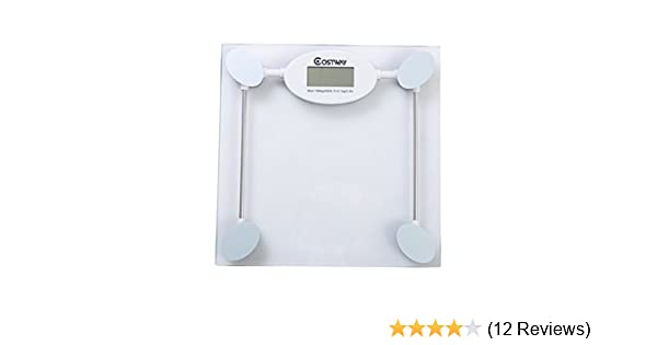 amazoncom costway digital glass bathroom scale silver health personal care - Bathroom Scale Reviews