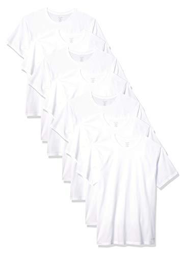 Calvin Klein Men's Cotton Classics Slim Fit Multipack Crew Neck T-Shirts, White, XL