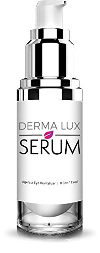 Dermalux Under Eye Serum For Wrinkles, Bags, Dark Circles, Puffiness & Fine Lines with Aloe Vera and Vitamin K. Natural Eye Lift Serum