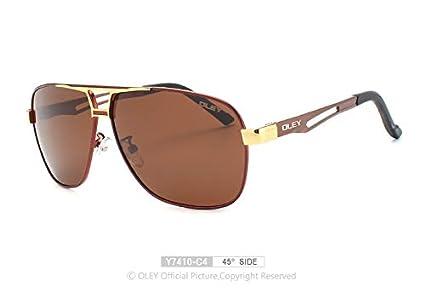 DYJHSD Gafas de Sol polarizadas clásicas para Hombre Montura ...