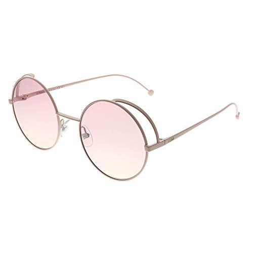 Fendi FF0343/S 35J Pink FF0343/S Round Sunglasses Lens Category 1 Size 53mm