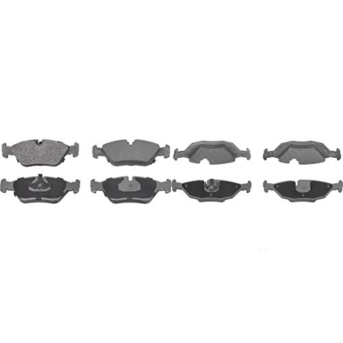 AutoDN Front and Rear 8 PCS Semi-metal Disc Brake Pads Set Kit For BMW 524TD 1985 ()