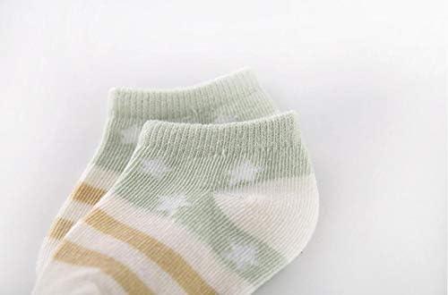 Calze Invisibili Basse per Bambini 0-5 Anni DEBAIJIA Set 5 Paia di Calzini Corti Bambino Presa di Cotone Calzini Caviglia Morbidi e Traspiranti per Primavera Estiva