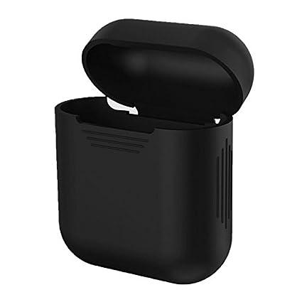 Tianu Carcasa protectora de silicona para auriculares Apple AirPods y funda de piel a prueba de