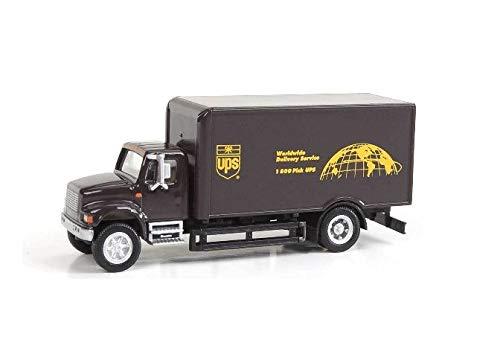 International(R) 4900 Single-Axle Box Van - Assembled -- United Parcel  Service (Bow Tie Shield Logo, brown, yellow)