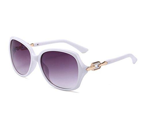 Gafas polarizadas femeninas la sol de de manera de de gafas Blanco sol de clásicas Huateng sol las Gafas qxtwn8f1ZX