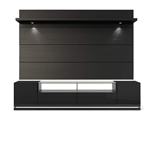 2-Pc Theater Center in Black Gloss and Black Matte ()
