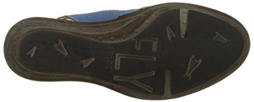 Khaki London Donna Zeppa P300659008 con Smurfblue Blu Sandali Fly 003 fdqvw8v