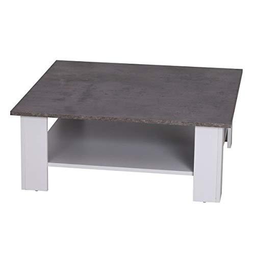 piso de concreto sala de estar Nuofake Mesa De Caf De 2 Pisos 80 X 80 X 315 Cm Color