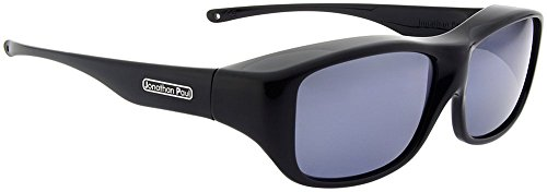 Jonathan Paul Fitovers Quamby Large Polarized Over Sunglasses ; Eternal-Black & Polarvue - Paul Jonathan Fitover Sunglasses