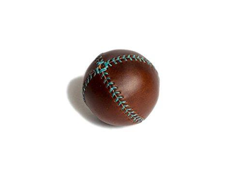 レモンボール野球。ブラウンHorween Chromexcel Leather、ターコイズステッチlb-cxl-tq B00US3DIQC