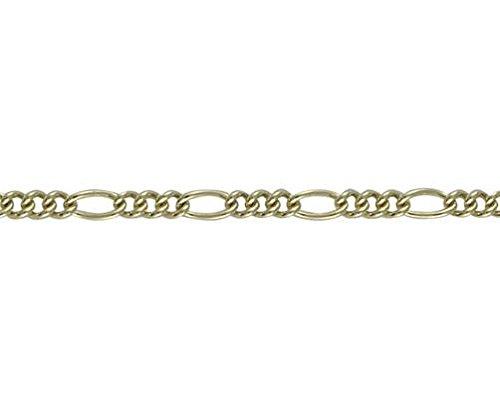 9ct or jaune maille figaro 19,1cm/Bracelet 19cm