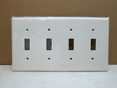 4 switch wall plate lot of 10 premier four gang toggle light switch cover wall plate white