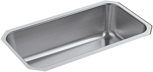 Undertone Preserve 31-1/4-Inch x 17-7/8-Inch Large Undermount Single-Bowl Kitchen Sink, Stainless Steel, , (Undertone Bottom Basin Rack)
