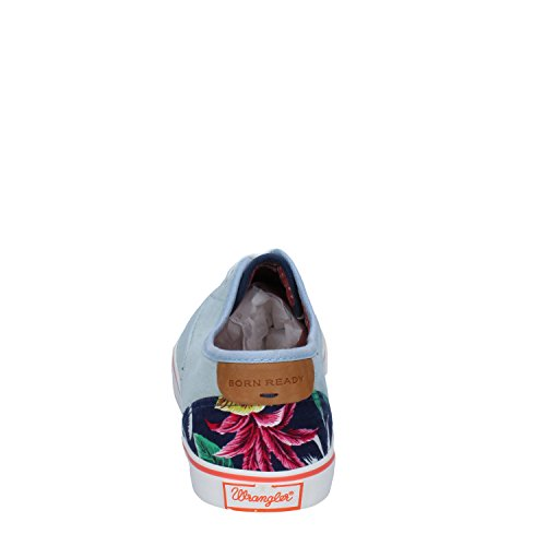 Tessuto EU WRANGLER Sneakers Celeste 41 Donna w1X17q