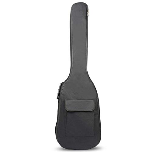 TOOGOO Black Waterproof Double Straps Bass Backpack Gig Bag Ca for Electric Bass Guitar 5mm Thickness Sponge Padded