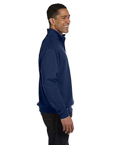 Jerzees mens 8 oz. 50/50 NuBlend Quarter-Zip Cadet Collar Sweatshirt(995M)-J NAVY-XL (Zip Jerzees Quarter Sweatshirt)