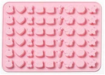 Yikuaigang 姫路城ライフ漫画おかしいシリコーングミ金型キャンディチョコレートバニージオメトリアニマル海のフルーツアイスキューブモールド (Color : Bunny-Pink)