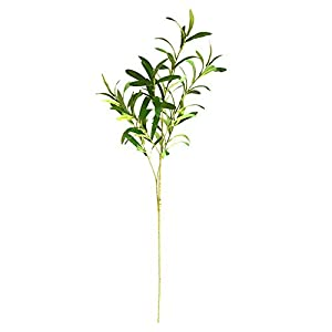 Artificial Decorative Flowers Simulation olive branch fake leaf green plant decoration rhododendron flower arrangement with flower decoration living room floor plant decoration Artificial Flowers. 5