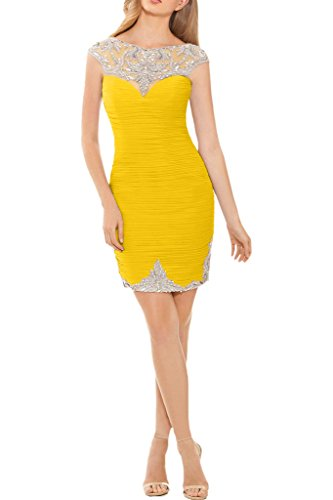 Promgirl House - Robe - Crayon - Femme -  jaune - 50
