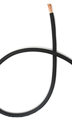 - 10 ft CCA 8 Gauge Oversized Black Power Ground Wire Sky High Car Audio
