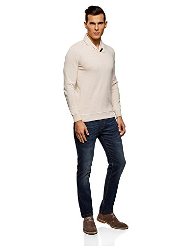 Coupe 1200m Beige Droite Oodji Avec Pull Ultra Col Homme Châle 8U7xIwtz