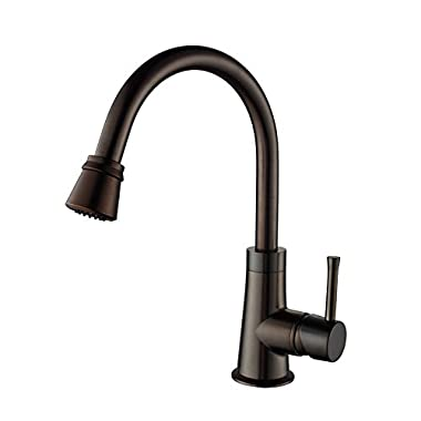 Kraus KPF-2220ORB Single Lever Pull Out Kitchen Faucet Oil Rubbed Bronze