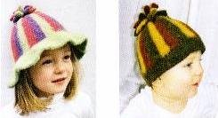 Three-Striped Flopsy Felted Hat Knitting Pattern (Felted Knitting Hats)