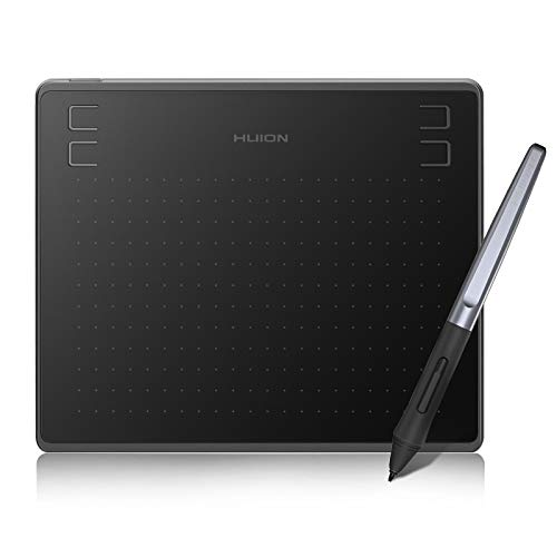 HUION HS64 Graphics Drawing Tablet Android Support Pen Tablet, 6x4 Inch Digital Graphics Tablet with Battery-free Stylus 8192 Pressure Sensitivity 4 Press Keys for Beginner, Extra 10 Pen Nibs Included