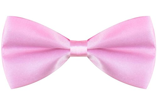 Pre Tied Little Boy Pink Bowtie Adjustable Boy Bow Tie Toddler Pink Bowtie (Candy Cane Outfit)