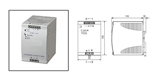 RADWELL VERIFIED SUBSTITUTE SDN10-24-100P-SUB Power Supply - 90-265V AC Input 24V DC Output 240 WATTS 10A Large MOUNTING Clip