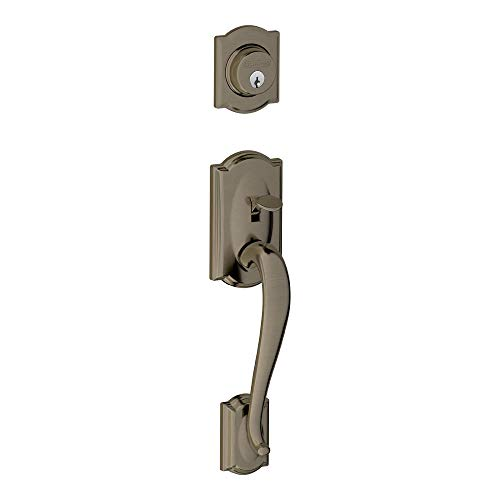 Schlage F58 CAM 620 Camelot Exterior Handleset with Deadbolt, Antique Pewter (Exterior Half Only) ()