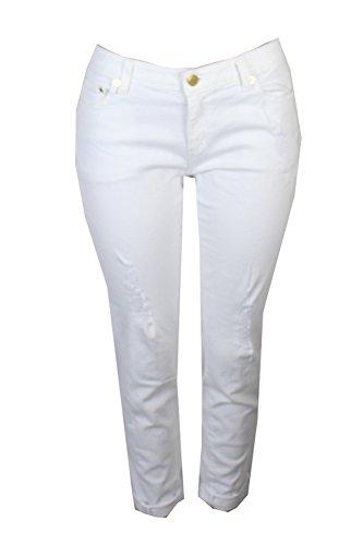 Michael Michael Kors Woman Classic Pant - Michael Kors Dillon Ripped Skinny Jeans (White, 4)