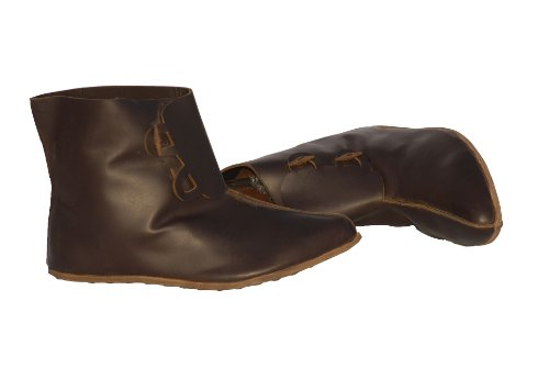 Normannische Kavallerie Männer Schuhe des 11. Jahrhunderts mit 2 Holzknöpfen / Handgefertigte mittelalterliche Lederschuhe / Mittelalter Lederschuhe / Mittelalter Schuhe / Reenactment Schuhe / LARP