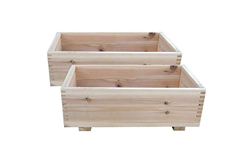 Timber Valley 10 x 16 Dual Purpose Cedar Garden Planter Box Storage Box Set of 2