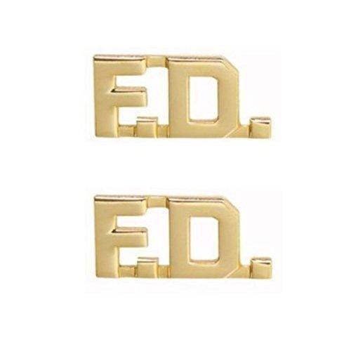 Fire Department Firefighter FD F.D. Uniform Shirt Jacket GOLD Collar Pins -