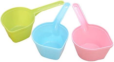 Wicemoon - Cuchara de plástico para comida de mascota, forma hidráulica, color verde, de plástico, para comida de mascotas, gatos, alimentos, perros, pala, color ramdón