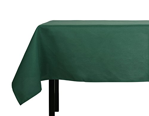 Christmas Fabric Tablecloth (Yourtablecloth 100% Spun Polyester Tablecloth – Rectangular Cloth Table Covers - Durable, Versatile & Stylish Fabric Tablecloth – Stain & Wrinkle Resistant – Machine Washable 52 x 90 Rectangle Hunter)