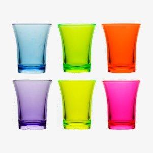 Box x 24 Reusable Plastic Shot Glasses 25ml - Polystyrene CE Stamped to Rim BB Plastics