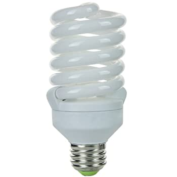 Sunlite SMS26F/50K SMS26F/50K 26-watt Super Mini Spiral Energy Saving Medium Base CFL Light Bulb, Super White