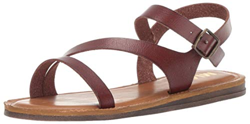 MIA Shoes Women's Eden Flat Sandal Brown 10 Medium US