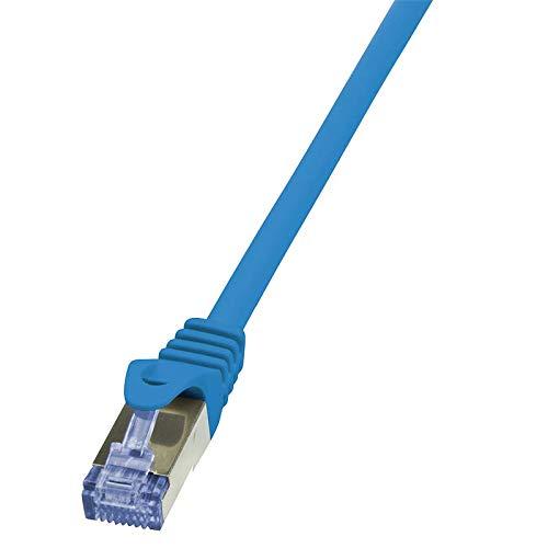 Patch Cable Cat.6A 10G S//FTP PIMF PrimeLine blue 0,50m LOGILINK