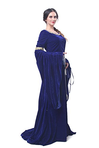Party FBA Maxi NI Damen Mittelalterliche Kleid Königin Nuoqi Langarm Kostüm GC209B Kleid q0RwpZZ7