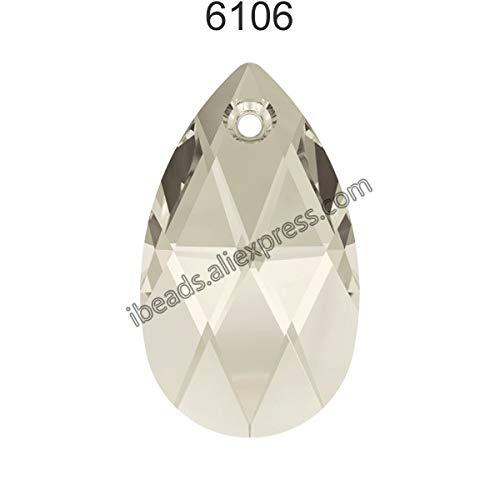 (Pukido (1 Piece) 100% Original Crystal from Swarovski 6106 Pear-Shaped Pendant from Austria Loose Beads Rhinestone DIY Jewelry Making - (Color: Crystal 001 SSHA, Item Diameter: 22mm))