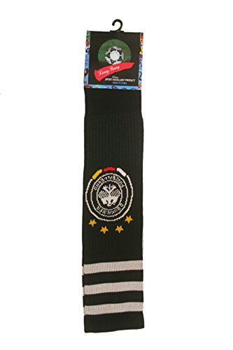 GERMANY DEUTSCHLAND Black 4 Stars World Cup SOCCER Socks Adult Size New