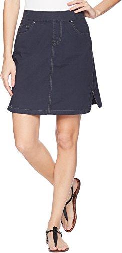 Skort Skirt Jean (Jag Jeans Women's On The Go Skort, Nautical Navy, 10)