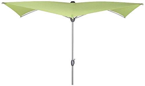 Siena Garden Sonnenschirm Granada 2,5x2,5m Aluminium-Unterstock silber Polyester 250g/m² limette UPF 50+, mit Kurbel