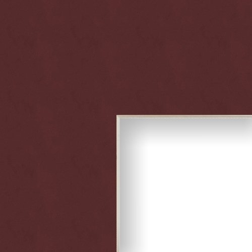 23x29 Matting for Picture Frame Maroon with Cream Core and